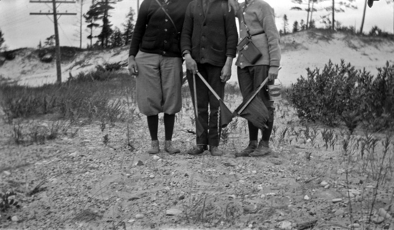 #46 Dick Durham - Bede - Rowland CRS on a hike at Little Travers Bay 1917