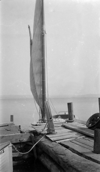 58y1 Pattengill Dock Gee Whiz Nancy Hanks- sailboat & the anchor Roaring Brook about 1916 in CRS's book #1