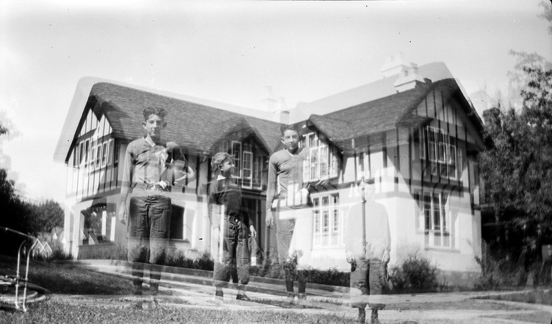 #100 Jenkins & George & Stowell & Marie's house (double exposure)