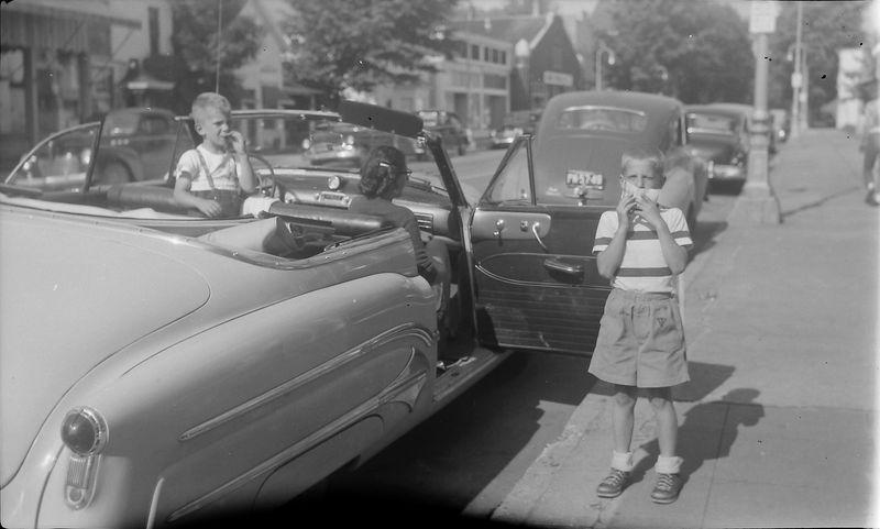#217 malcolm & Virginia & Winston Stebbins in Harbor Springs Mi 16-17 June'51