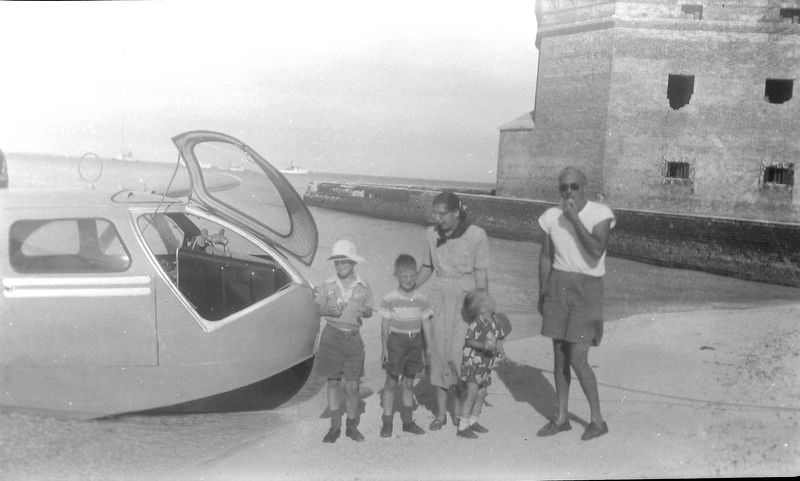 #2 Virginia&Winston&Malcolm&Kenyon & Pilot Arrival at Fort Jefferson 5 Jan'52