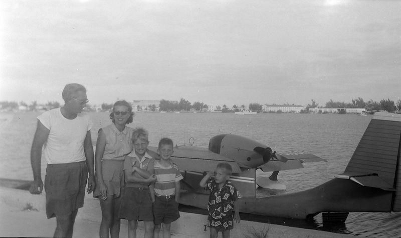 #1 Key West Fl Pilot&wife & Win-Mal-Ken Stebbins 5 January'52