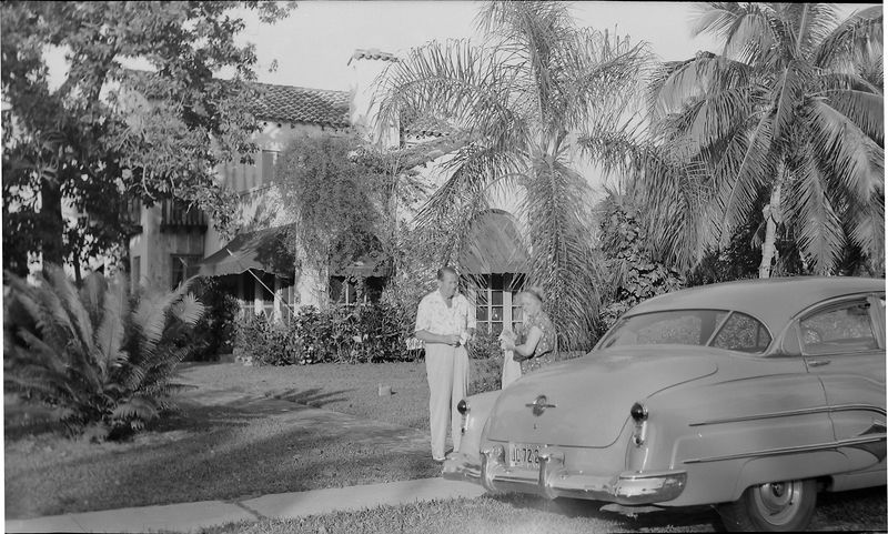 #52 Stowell & Marie Stebbins at 915 Castile Coral Gables Feb'52