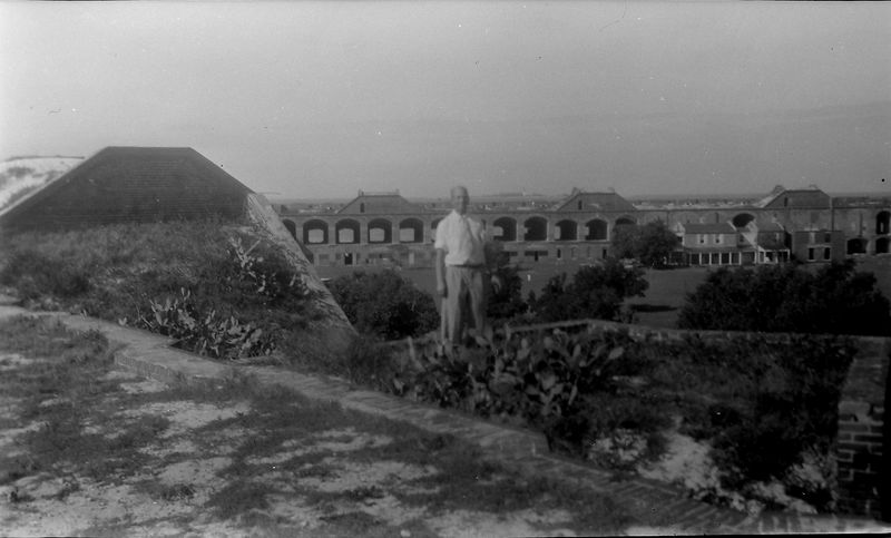 #6 Rowland Stebbins at Fort Jefferson  FL 5 Jan'52