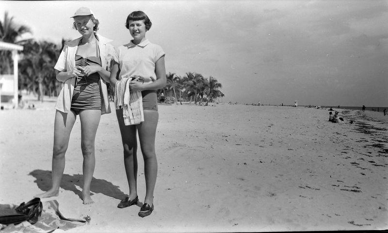 #44 Myra Wright & Marilyn Stebbins Coral Gables Fl 7 Feb,52