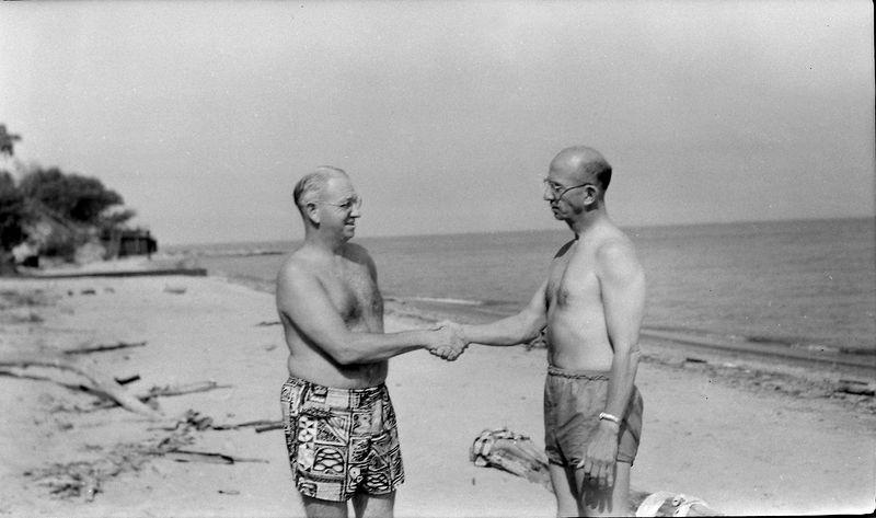 #234 George&Rowland Stebbins Ashtabula OH 1 July'56