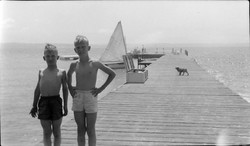 #24 Malcolm & Winston Stebbins Roaring Brook Dock July'54