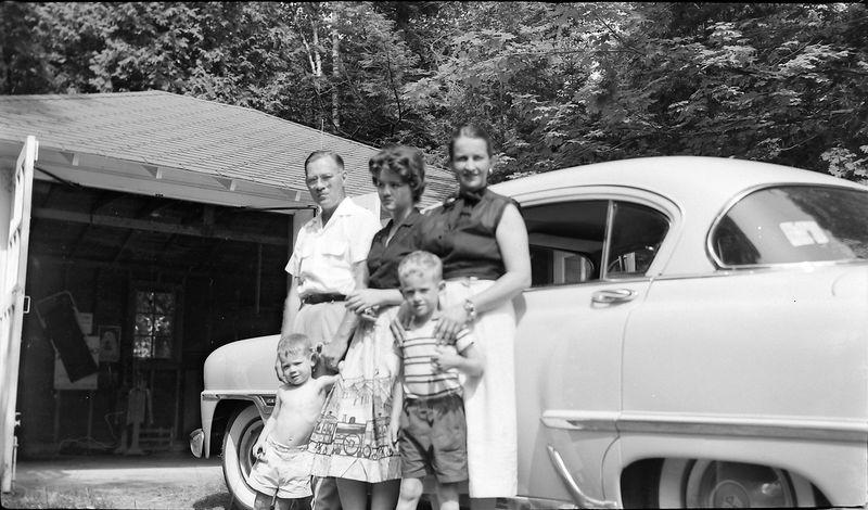 #115 Bob & Ann Adams & family Roaring Brook 18 July'55