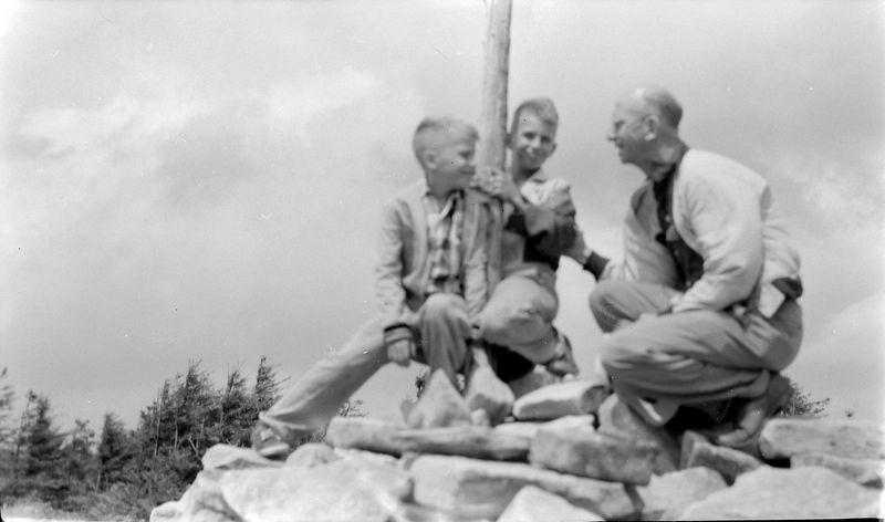 #207 Kenyon-Malcolm-Rowland Stebbins W Va state highpointSpruce Knob 28 June'56