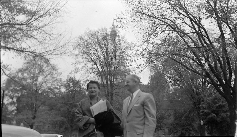 #100 Elma & George Stebbins at Capital in Lansing (109 N Walnut) Summer'55