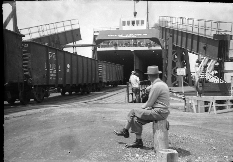 #97 Loading dock at Car Ferry Ludington MI 11 July'54
