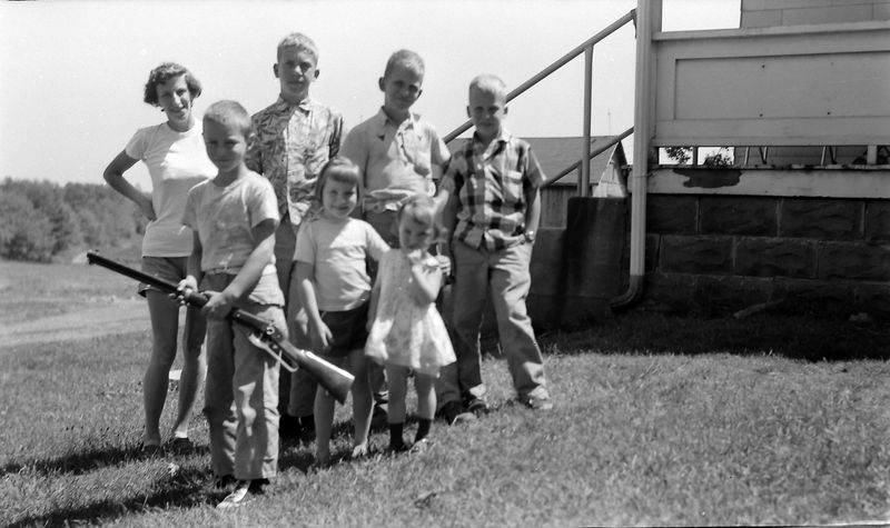 #225 Bill Burgoyne & family & Win-Mal-Ken Stebbins 30 June'56