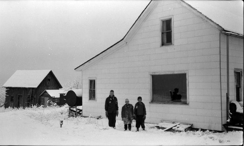 #154 Winston& Malcolm&Kenyon Stebbins Farm of Boyne Mt 1 March'58