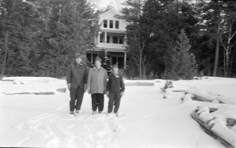 #123 Winston&Malcolm&Kenyon Stebbins at Roaring Brook  MI Jan'58