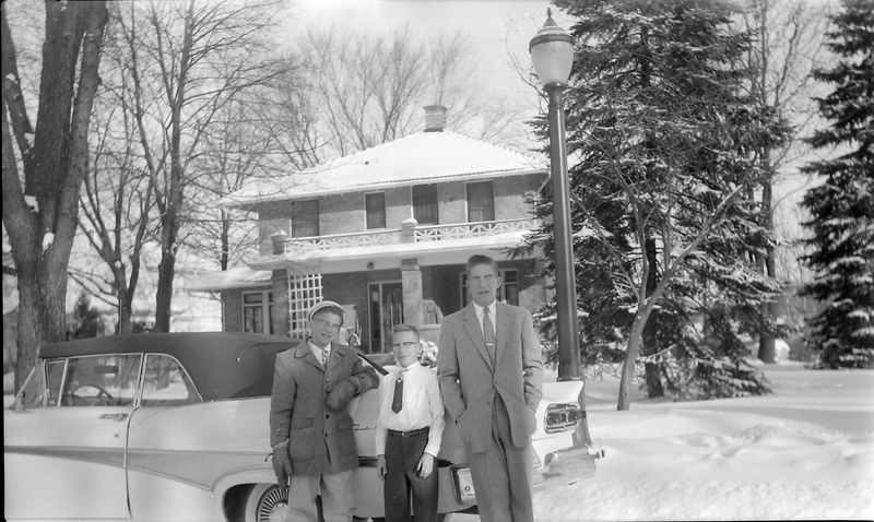 #145 Winston& Malcolm&Kenyon Stebbins & first day of 58 Ford at 1710 MRD Feb'58
