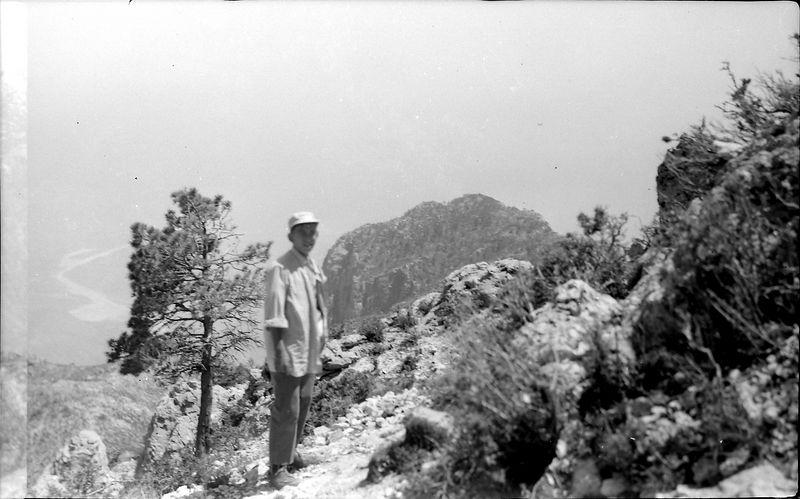 #249 Winston Stebbins & El Capitan near Guadalupe Peak TX 25 June'58