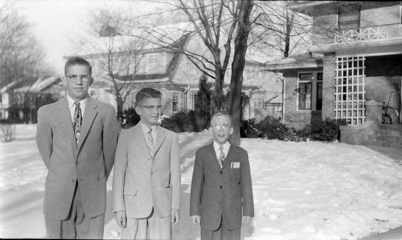 #134 Winston& Malcolm&Kenyon Stebbins  1710 MRD Lansing Jan'58