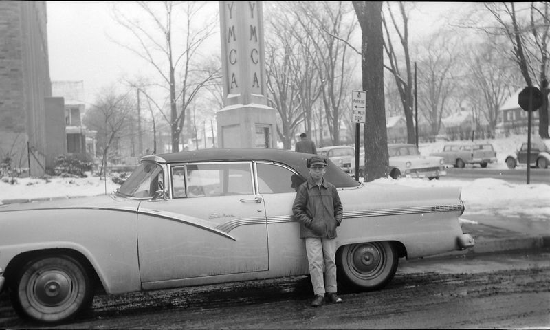 #144 Kenyon Stebbins & Last day of 56 Ford at YMCA Feb'58