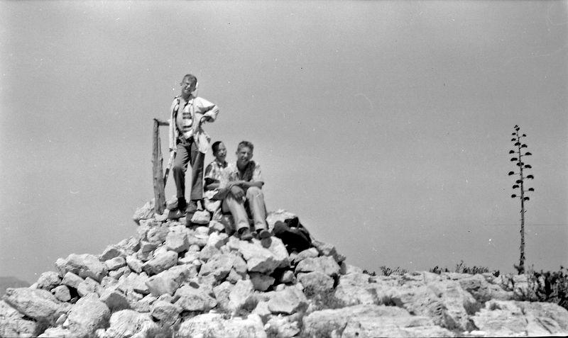 #242 Winston&Kenyon&Malcolm Stebbins atop Guadalupe Peak TX 25 June'58
