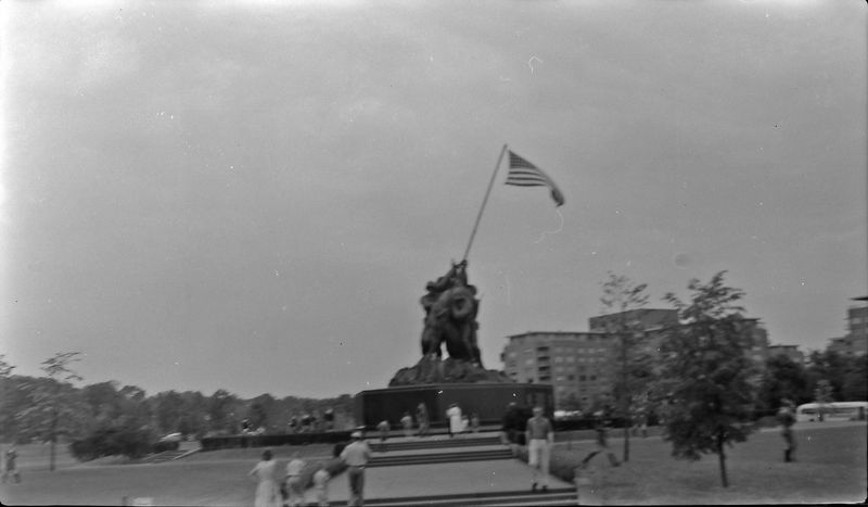 #46 Iwo Jima Statue Wash DC on way to Valley Forge 10-July'57