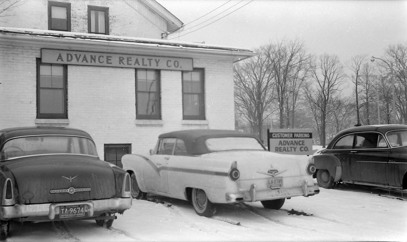 #143 Last day of 56 Ford at Advance Ralty Co Feb'58