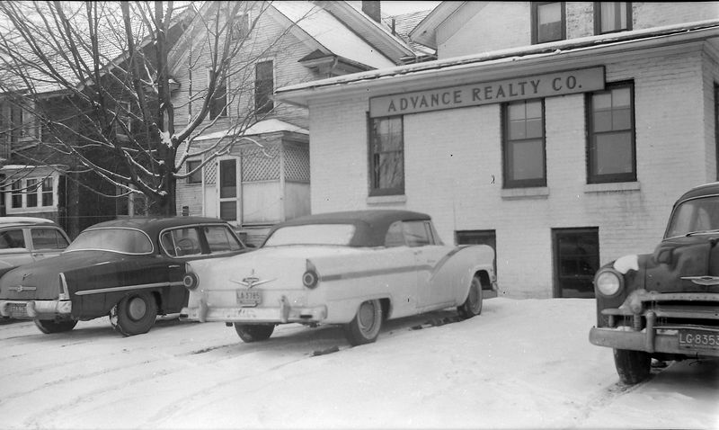 #148 Last day of 56 Ford at Advance Ralty Co Feb'58