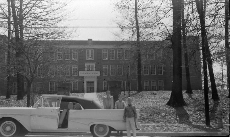 #166c Winston& Malcolm&Kenyon Stebbins at Ken's school in Bristol Tenn 1 April'58