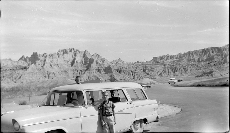 #82 Mal&Ken in Badlands S Dak 24 Aug'57