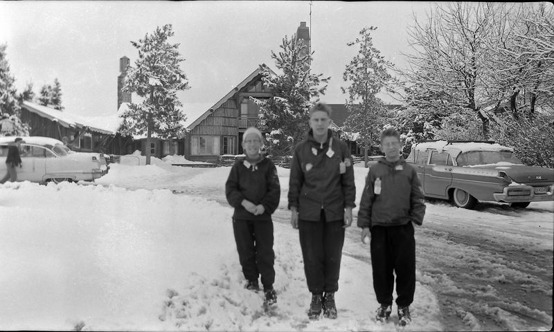 #150 Winston& Malcolm&Kenyon Stebbins Otsego Ski Club 2 March'58