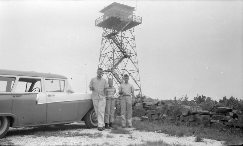 #221 Winston-Malcolm-Kenyon Stebbins atop Magazine Mt Ark 20 June'58
