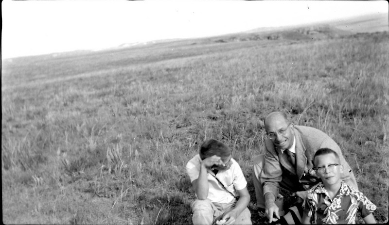 #102 Mal-Rowland-Kenon atop Black Butte ND 27 Aug'57