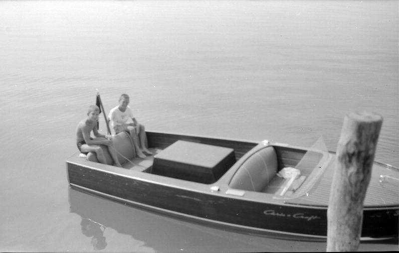 #106 Malcolm Stebbins & Barry Searles in Sal-Lyn at Roaring Brook Dock Sept'57