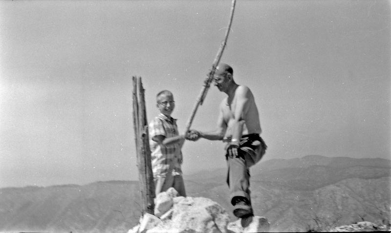 #236 Kenyon&Rowland Stebbon atop Guadalupe Peak Tex 25 June'58