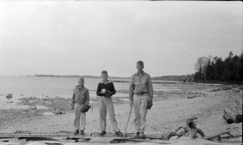#166e Winston& Malcolm&Kenyon Stebbins Roaring Brook 10 May'58