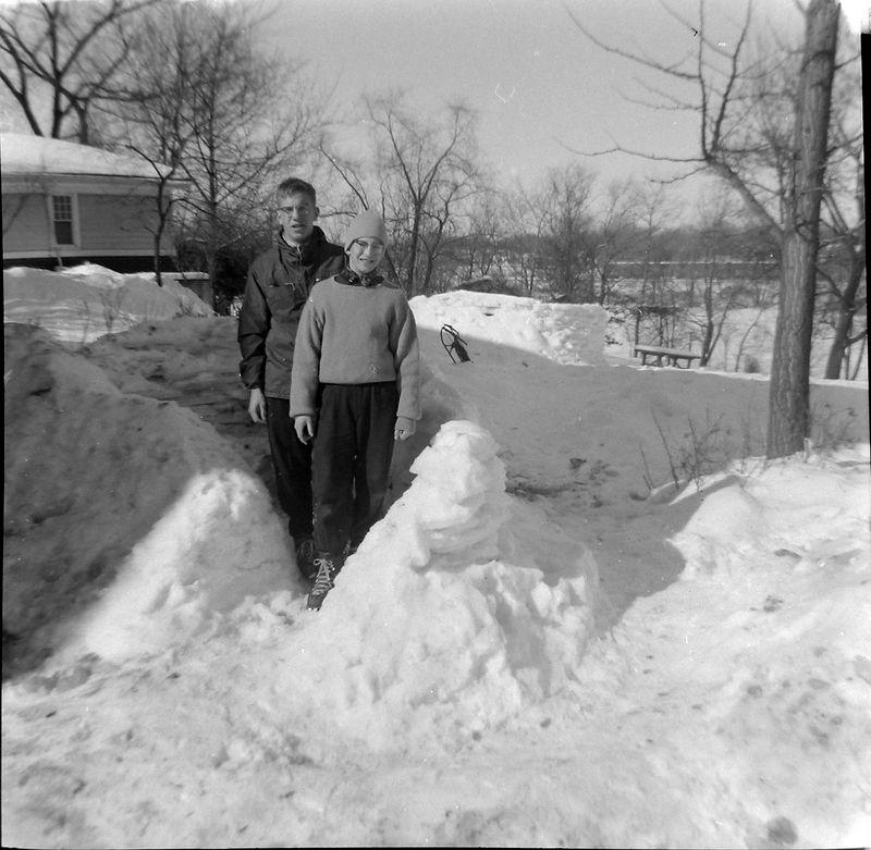 #82 Winston& Malcolm Stebbins 1710 Snowfort Winter'59