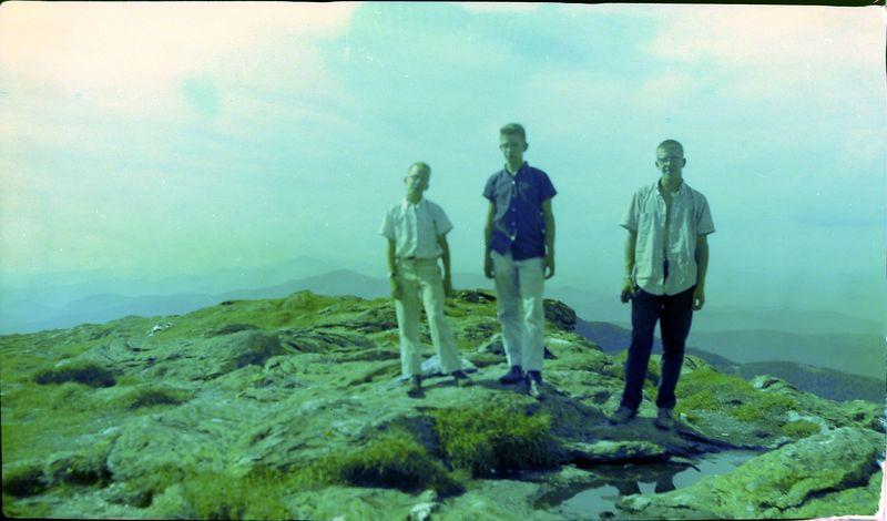 #190 Winston-Malcolm-Kenyon Stebbins atop Mt Mansfield NH 14 July'59