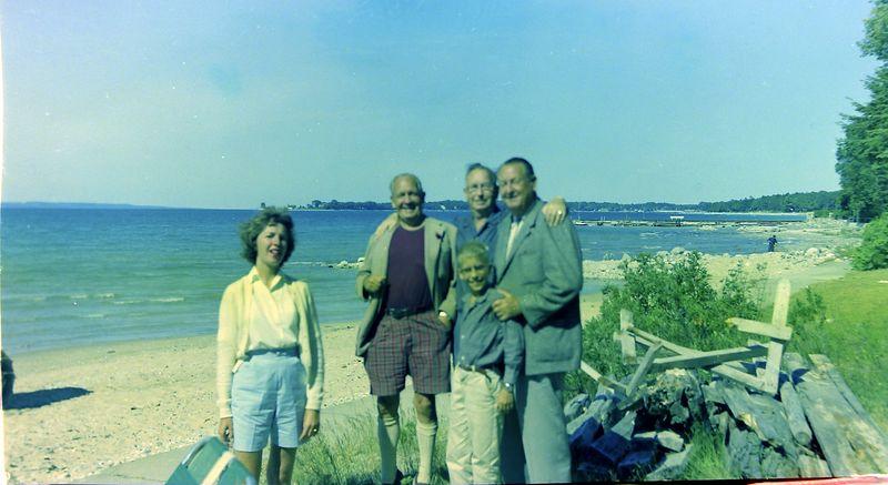 #66 Jackie-Francis-Cortland-Kenyon-Stowell Stebbins Roaring Brook 29 July'58
