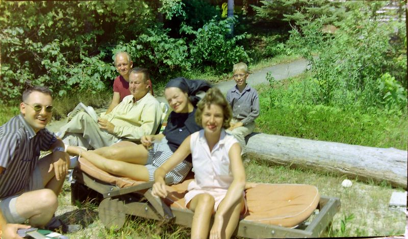 #70 James&Francis&Stowell&Annette&Jackie&Kenyon Stebbins Roaring Brook 29 July'58