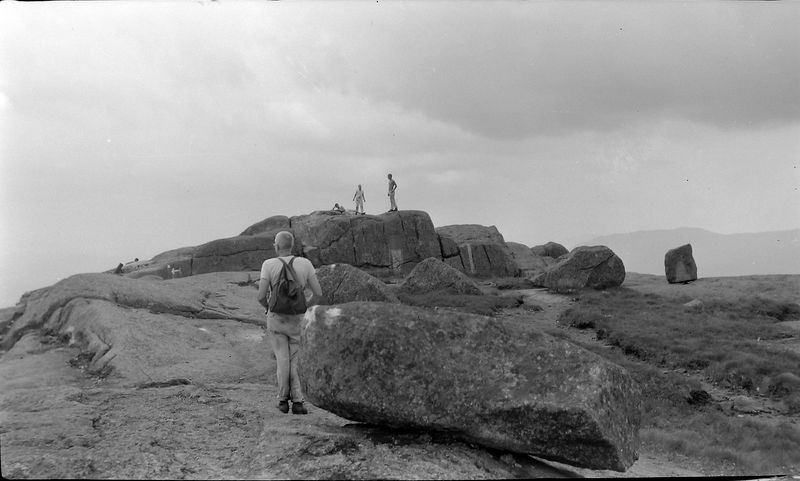 #198 Winston-Malcolm-Kenyon Stebbins & Dave Bishop atop Mt Marcy 15 July'59