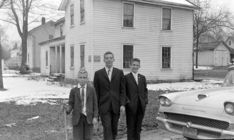 #100 Winston-Malcolm-Kenyon Stebbins Eliza Scott's Langsburg Home 402 E McClutoch Mar'59