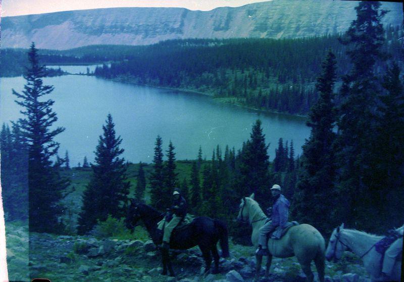 #63 Winston&Malcolm Stebbons on horseback  Chain Lakes Kings Peak Utah 8 July'60