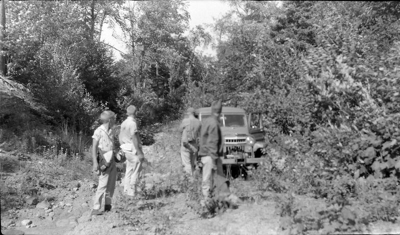 #94  Winston-Kenyon-Rowland Stebbins & Dave Bishop enroute Mich highpoint 16 Aug'60