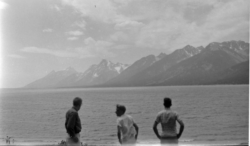 #184 Winston-Malcolm-Kenyon Stebbins Jackson Lake Teton Nat'l Park Wyo 29 June'61