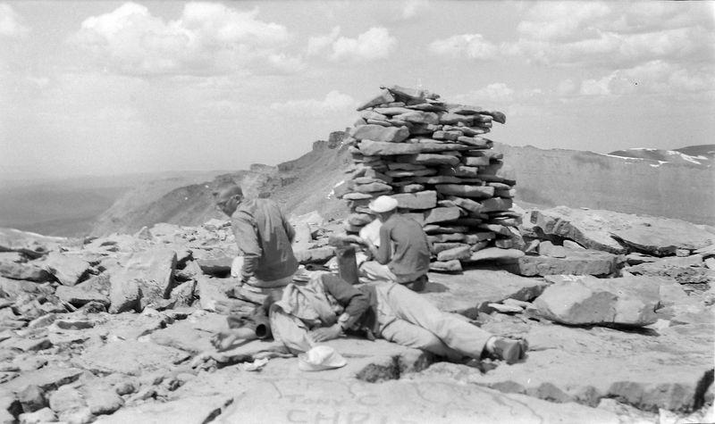 #58 Winston-Malcolm-Kenyon Stebbins atop Kings Peak Utah 8 July'60