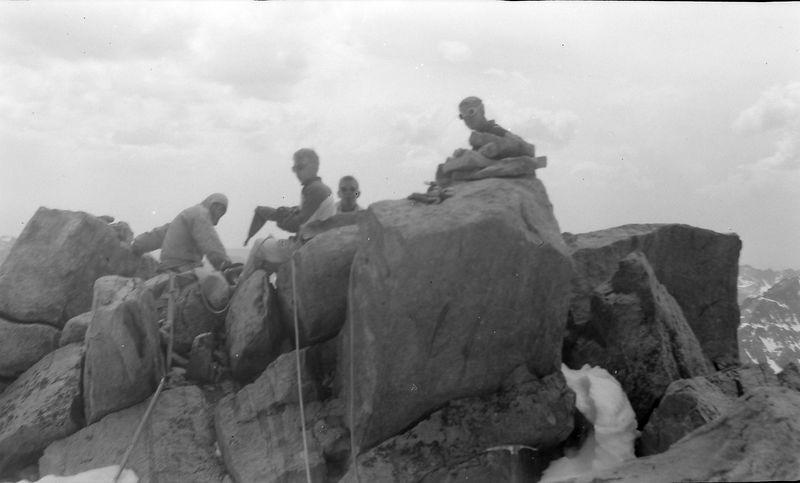 #181 Winston-Malcolm-Kenyon Stebbins atop Gannett Peak Wyo 27 June'61