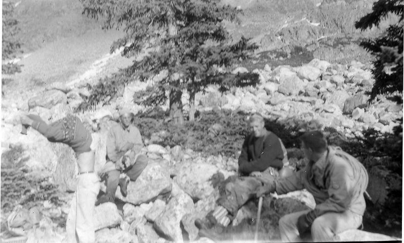 #186 Winston-Malcolm-Kenyon Stebbins & Al Rad enroute Gannett Peak Wyo 28 June'61