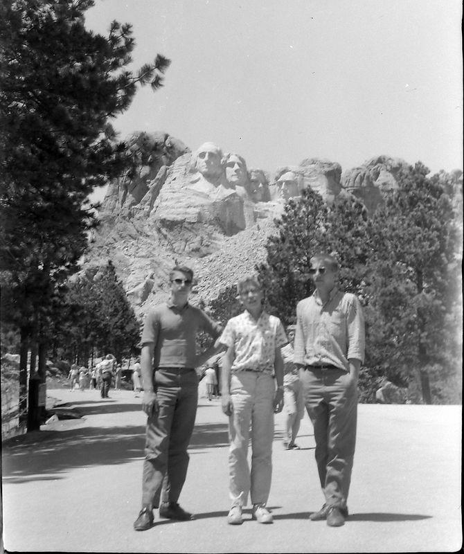 #164 Winston-Malcolm-Kenyon Stebbins Mt Rushmore S Dakota 23 June'61