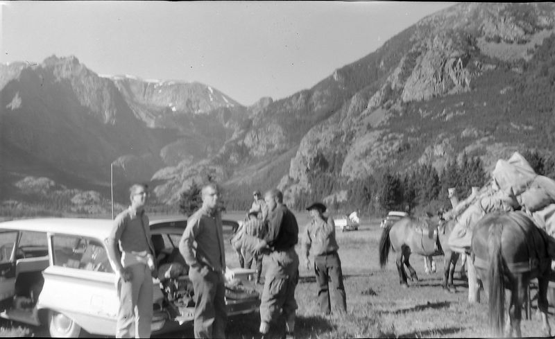 #190 Malcolm-Winston Stebbins & Al Rad East East Rosebud Lake start of Granite Peak trip 2 July'61