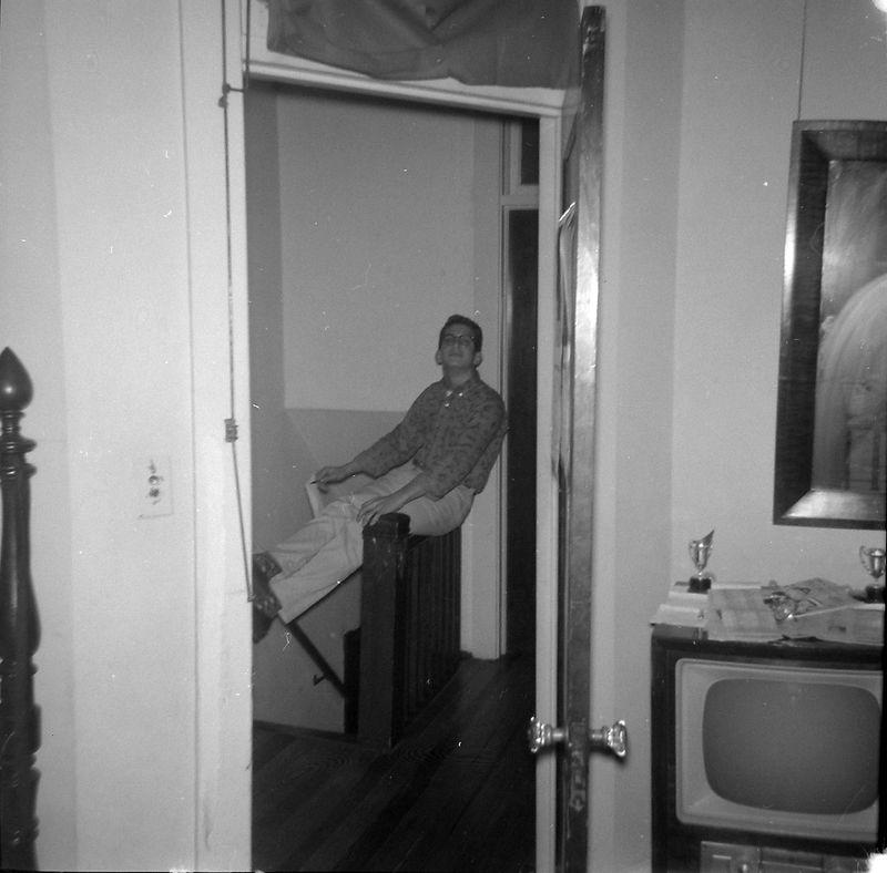 #83 Kenyon or Malcolm Stebins in upstairs hall of 1710 MRD June'60