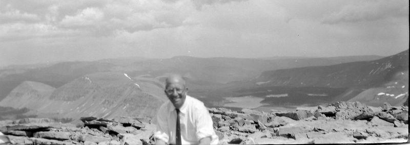 #56 C Rowland Stebbins atop Kings Peak Utah 8 July'60